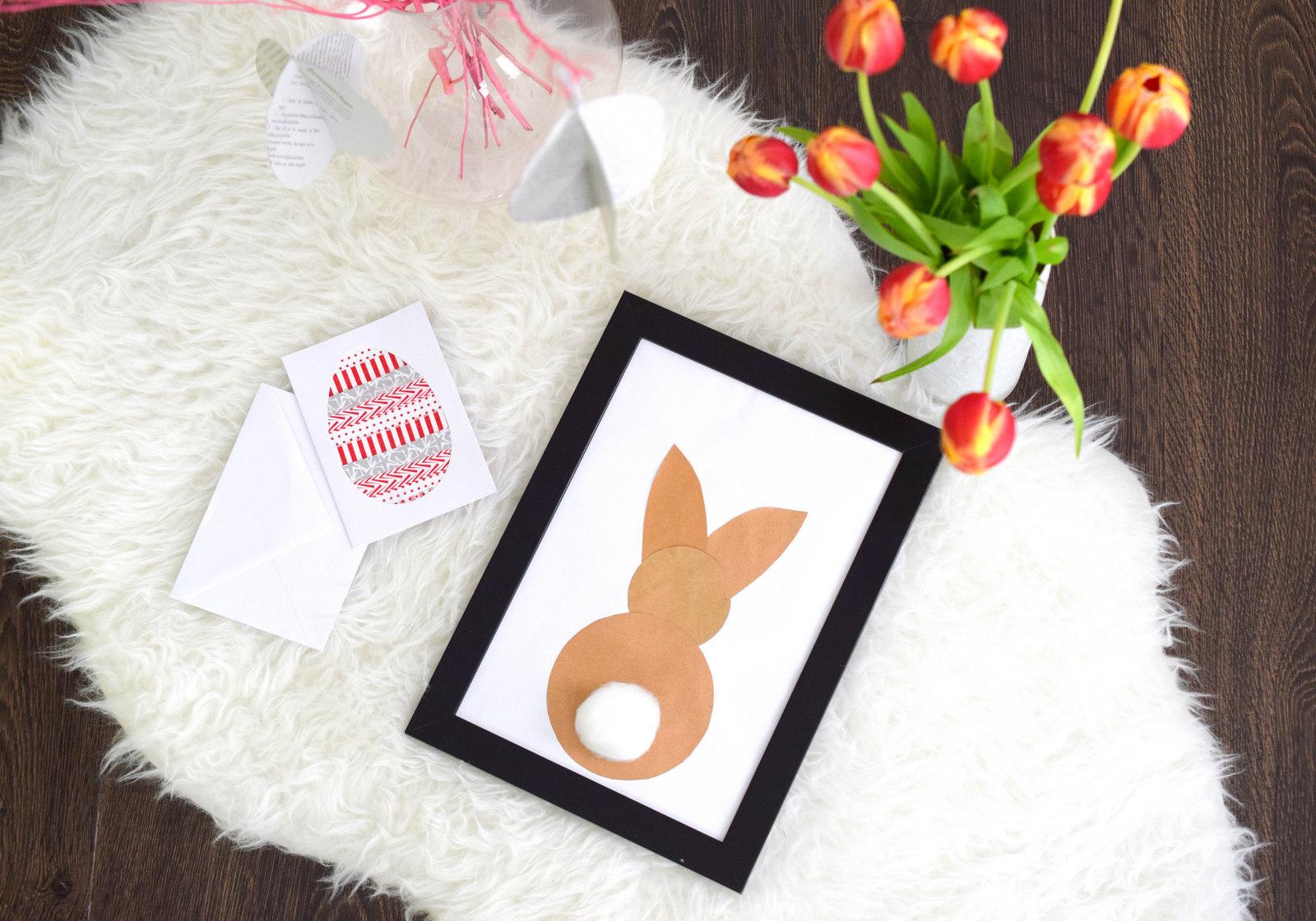 Osterbasteln: DIY mit drei Bastelideen aus Papier für Ostern. Auch für Osterbasteln mit Kindern geeignet und eine schöne Osterdekoration.