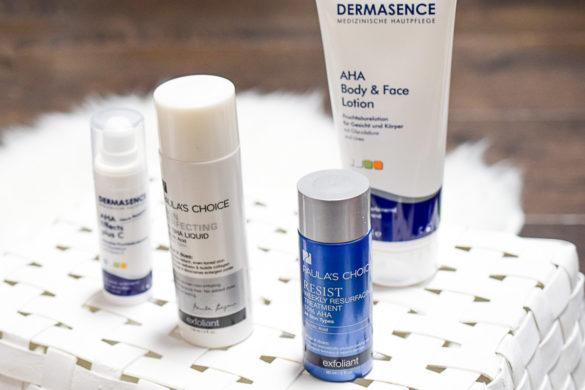 Regelmäßig chemische Peelings verwenden AHA oder BHA Peeling von Paula's Choice und Dermasence ja oder nein bei der Montagsfrage auf I need sunshine Beautyblog