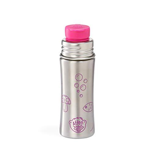Affenzahn Unisex– Kinder Eule Trinkflashe, Silber/Pink, 5.5 x 19 x 0 cm (B/H/T)