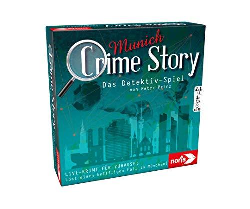 Noris 606201890 Crime Story Munich-Das Detektiv Spiel-Storybasiertes Krimi-Kartenspiel zum Thema München, ab 12 Jahren