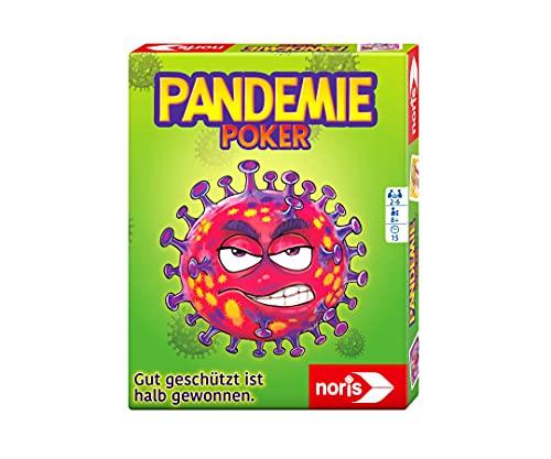 noris 606264517 Pandemiepoker, Das Kartenspiel bei dem gut geschützt halb gewonnen ist, ab 8 Jahren