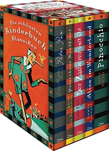 Die schnsten Kinderbuchklassiker: Peter Pan - Peterchens Mondfahrt - Der Zauberer von Oz - Alice im Wunderland - Pinocchio (5 Bnde in Kassette)