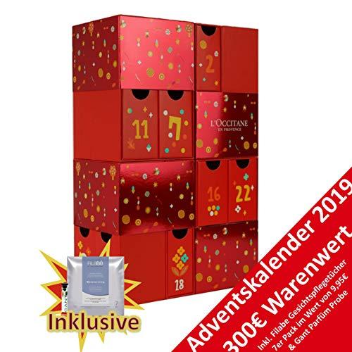 Loccitane Premium Beauty Adventskalender 2019 - idealer Advent Kalender für die Frau, Beautykalender im Wert von 300 €, Kosmetikkalender mit 24 Beauty Produkten für Damen, Cremes, Shampoo