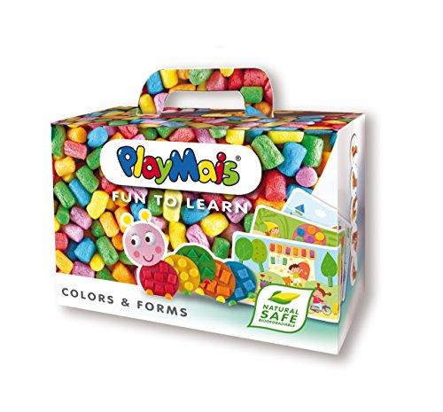 PlayMais 160063 - PlayMais FUN TO LEARN, Colors & Forms, Bastelset