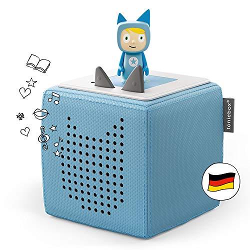 Toniebox Starterset in Hellblau: Toniebox + Kreativ-Tonie - Der Tragebare Lautsprecher für Tonies Hörfiguren und Kreativ Tonies - Für Kinder ab 3 Jahren - DEUTSCH