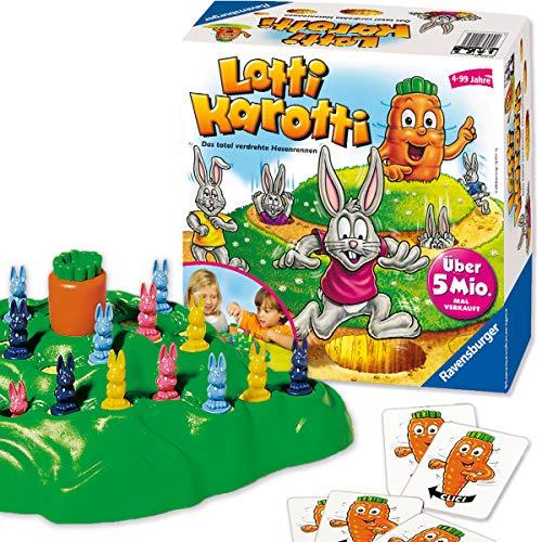 Ravensburger Lotti Karotti, Brettspiel für Kindergeburtstage, Gesellschafts- und Familienspiel, für Kinder und Erwachsene, 2-4 Spieler, ab 4 Jahren