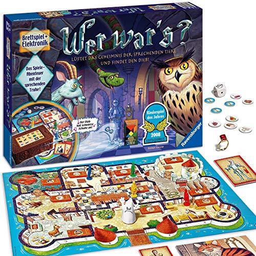 Ravensburger Kinderspiel Wer war's, Gesellschafts- und Familienspiel, für Kinder und Erwachsene, Kinderspiel des Jahres, für 2-4 Spieler, ab 6 Jahren