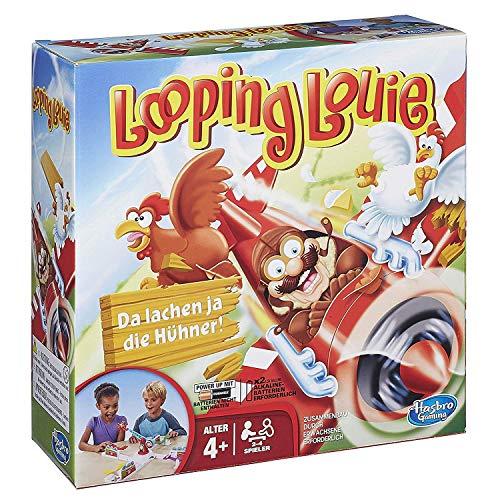 Hasbro Looping Louie Kinderspiel, lustiges 3D Spiel, Partyspiel für Kindergeburtstage, unterhaltsames Gesellschafts- & Familienspiel, für Kinder & Erwachsene, 2-4 Spieler, ab 4 Jahren