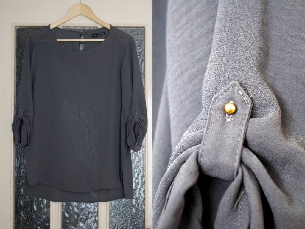 Primark Bluse in Grau