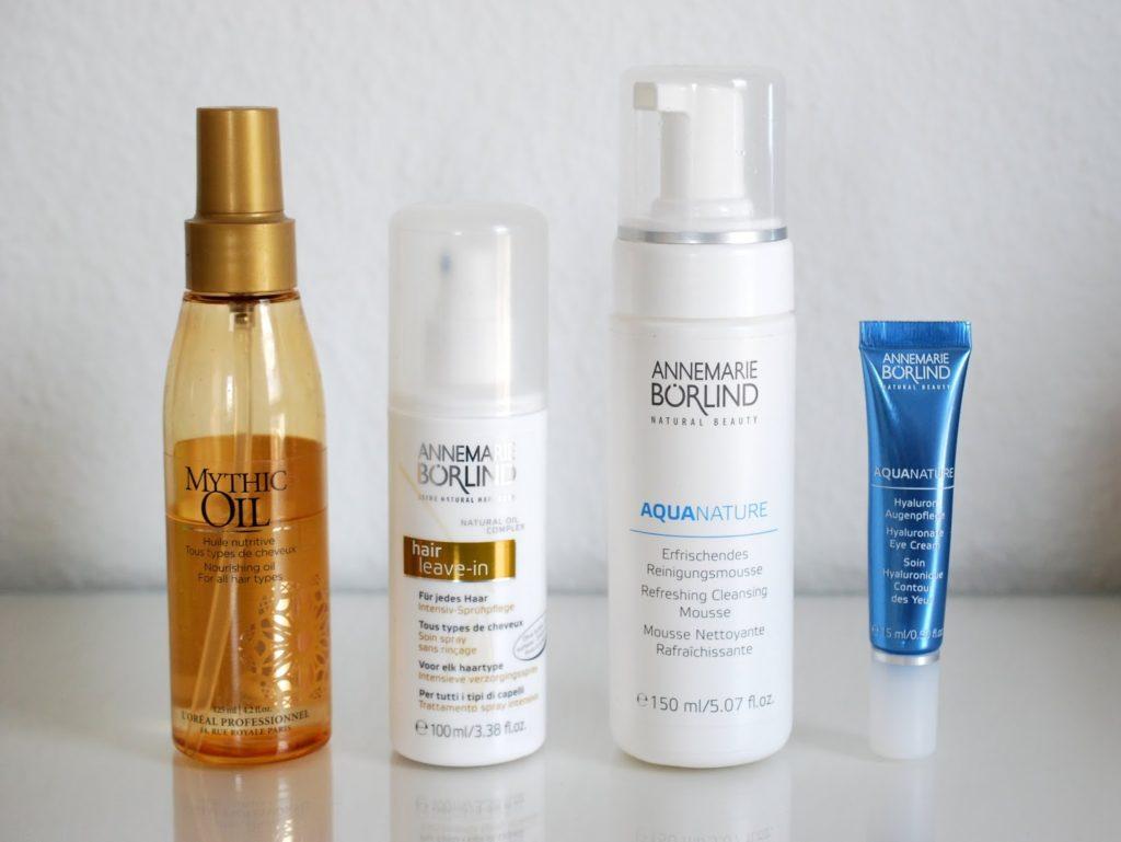 Annemarie Börlind hair leave-in Aqua nature Reinigungsmousse Hyaluron Augenpflege
