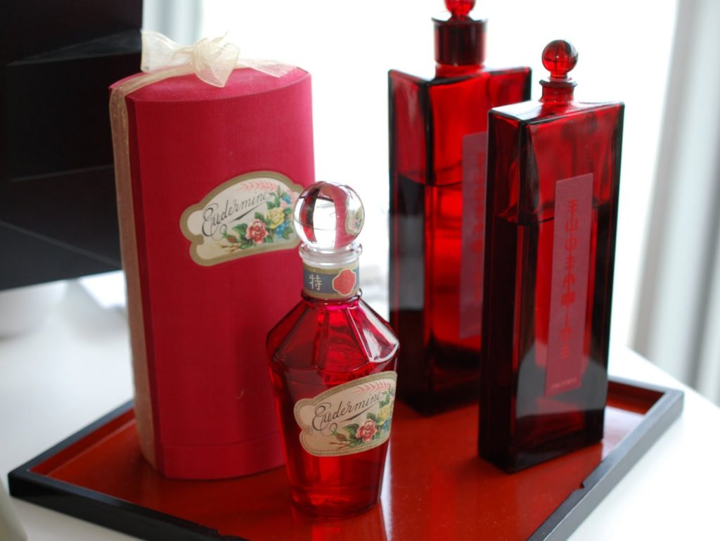 Shiseido Eudermine Hautlotion Flakon Früher und Heute