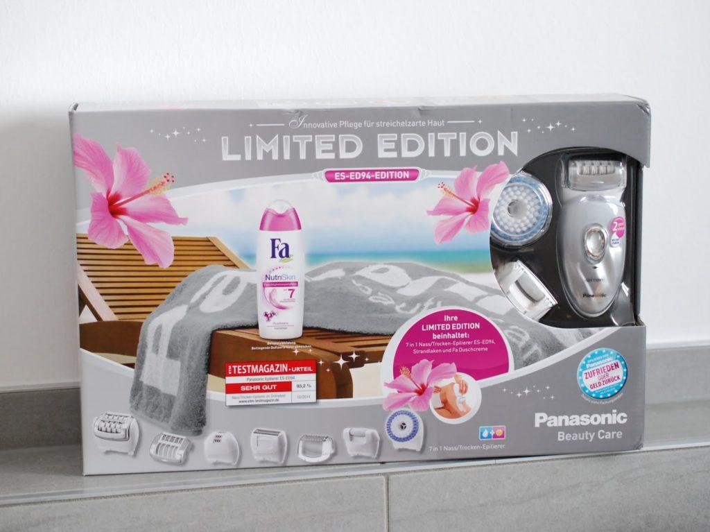 Panasonic ES-ED94 7in1 Nass Trocken Epilierer Limited Edition Strandlaken und Duschcreme