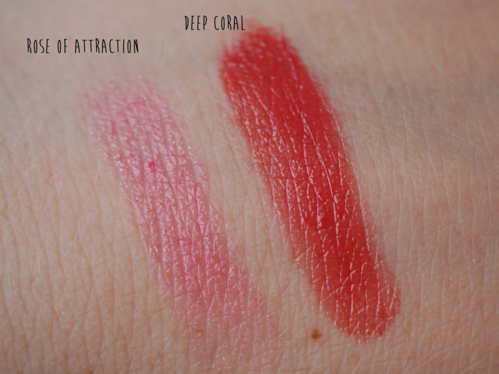 Swatch Maybelline Color Whiser 75 Rose of Attraction Shiseido Lacquer Rouge RD314 Deep Coral