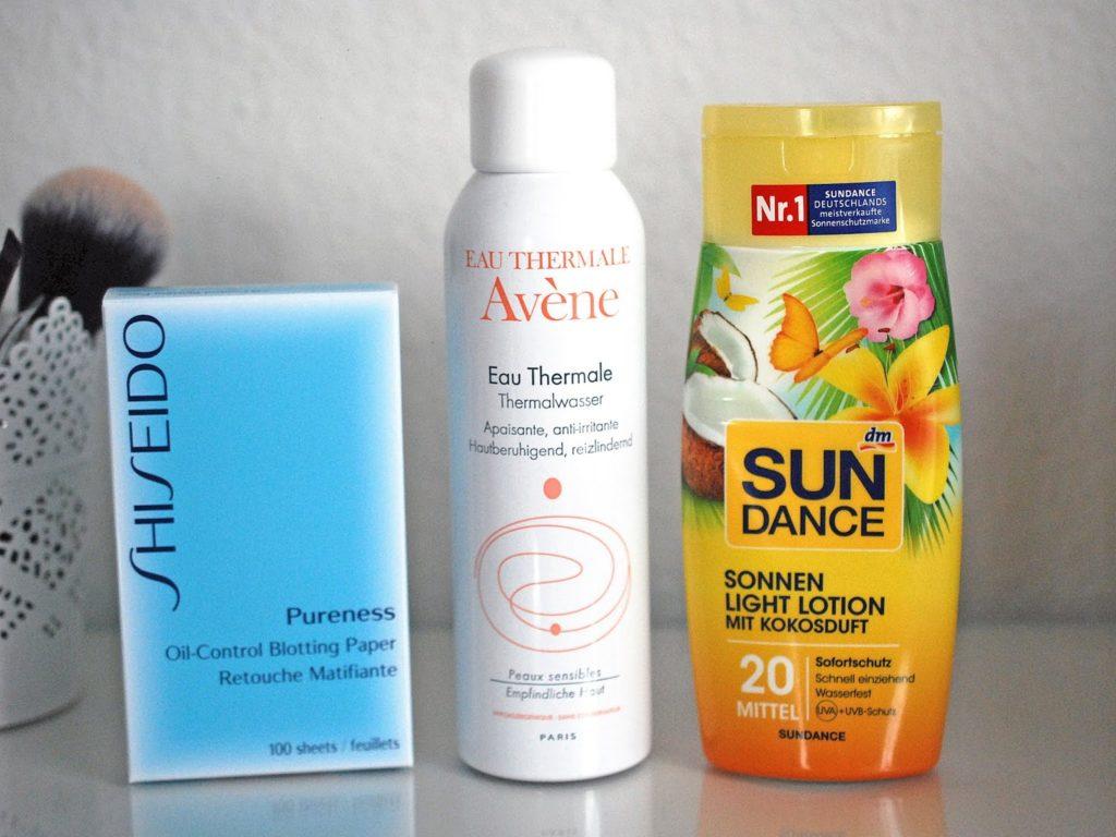 Top 3 Beautyhelfer im Sommer Shiseido Avène Sundance