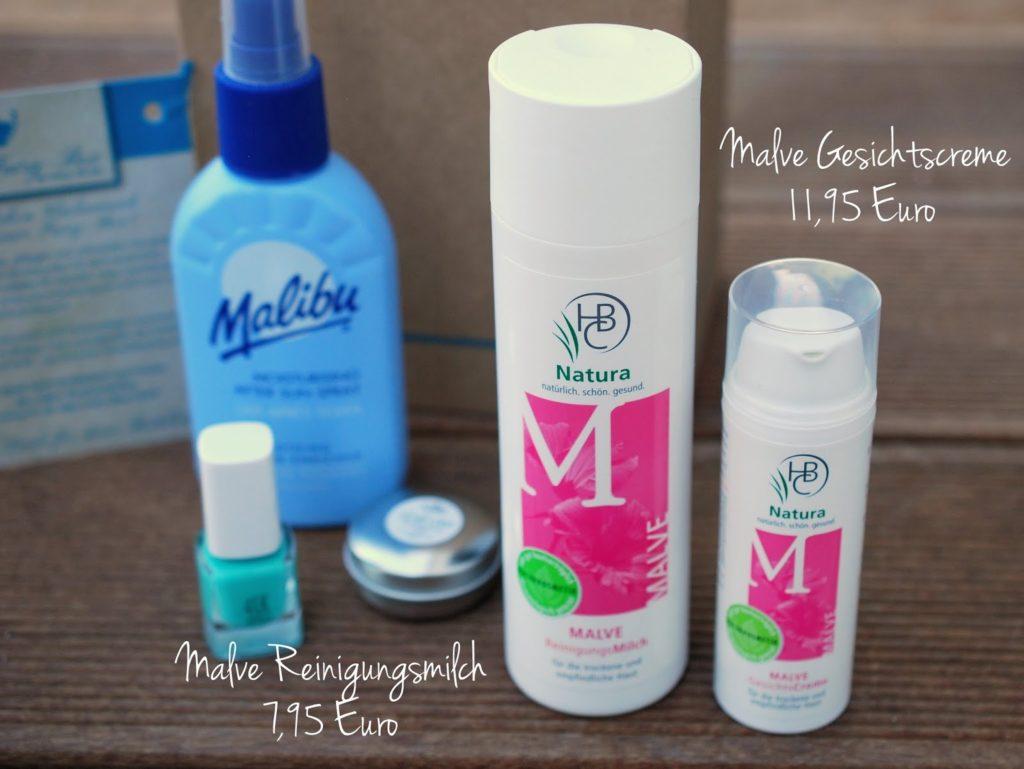 Malve Gesichtscreme und Reinigungsmilch der HBC Natura Apothekenmarke