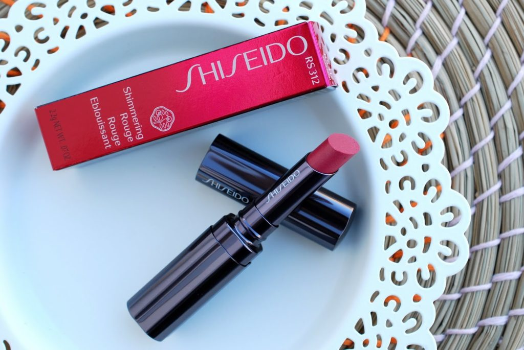 "Review Shiseido Lippenstift Shimmering Rouge RS312 ""Iced Rose"""