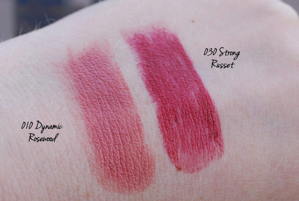 "p2 Here I am LE beauty amazon lipstick ""010 dynamic rosewood"" und ""030 strong russet"""