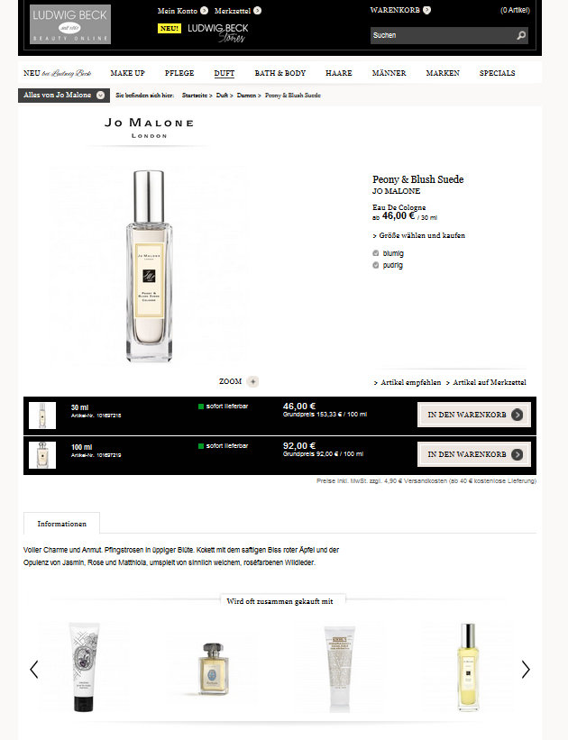 Ludwig Beck Beauty Onlineshop