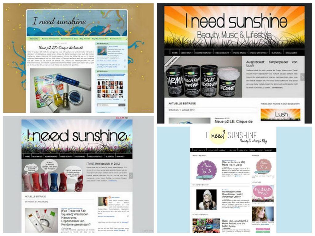 Alte Blog-Designs von I need sunshine