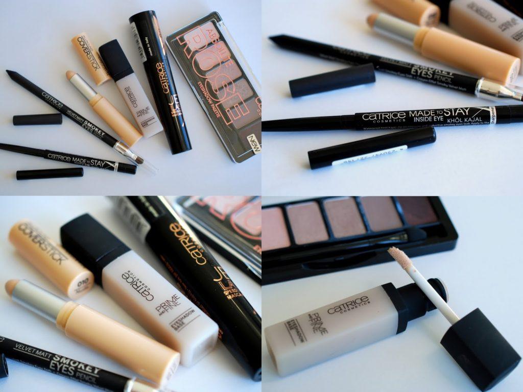 Produkte aus dem neuen Catrice Sortiment die für mein Augen-Make-Up mit der Catrice Absolute Rose Palette verwendet habe