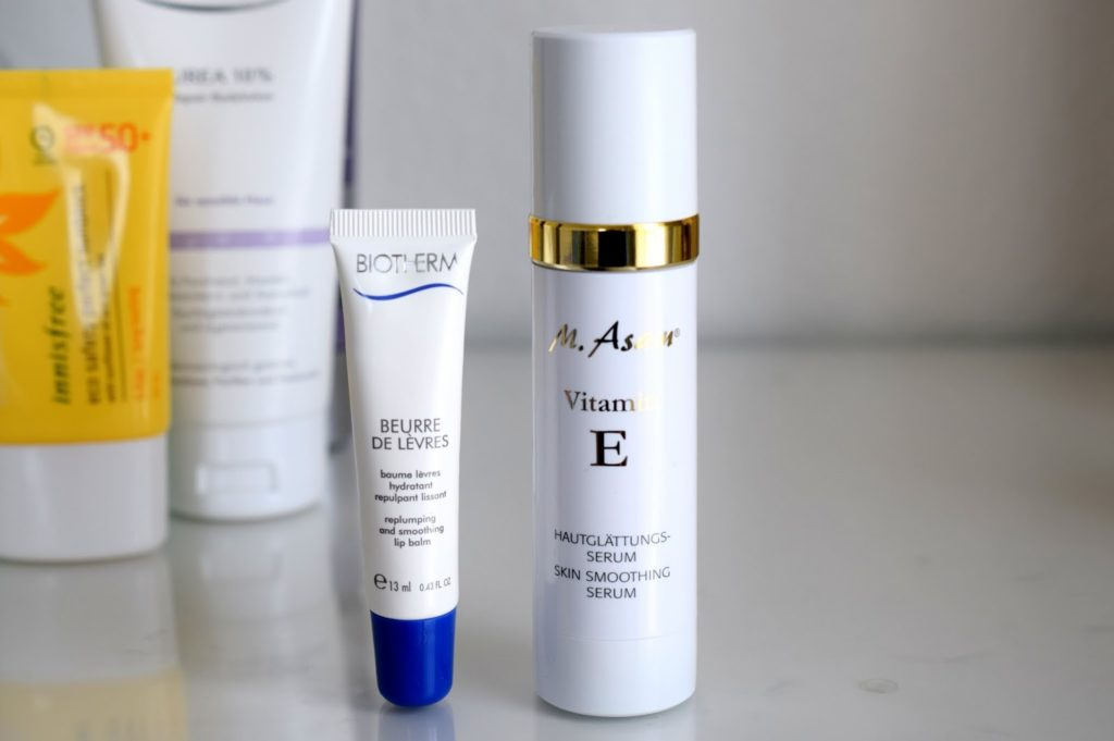 Biotherm Lip Balm und M.Asam Vitamin E Serum