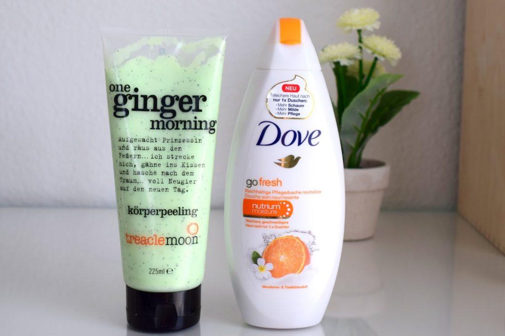 Beauty Favoriten im März: treaclemoon One Ginger Morning Körperpeeling und Dove Go Fresh Duschgel