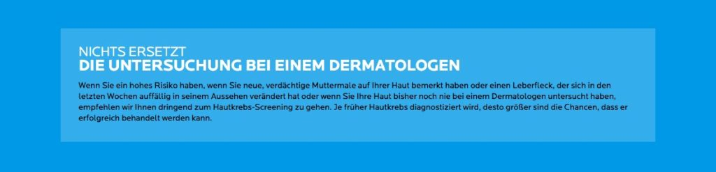 ABCDE Regel Hautkrebsvorsorge