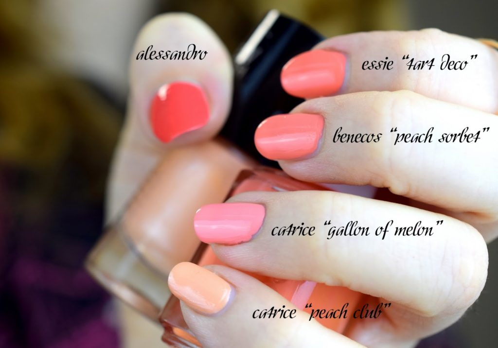 Ombre Summer Nails - Coral & Peach: Verwendete Nagellacke