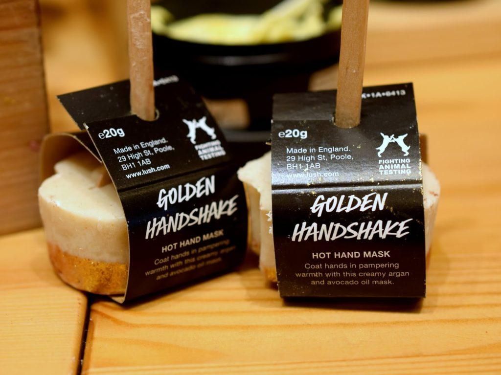 Lush Golden Handshake Hot Hand Mask Handmaske Test Review Erfahrungen Neuheiten Standardsortiment 2015