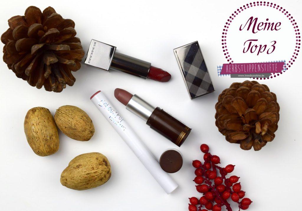Meine Top 3 Herbst Lippenstifte