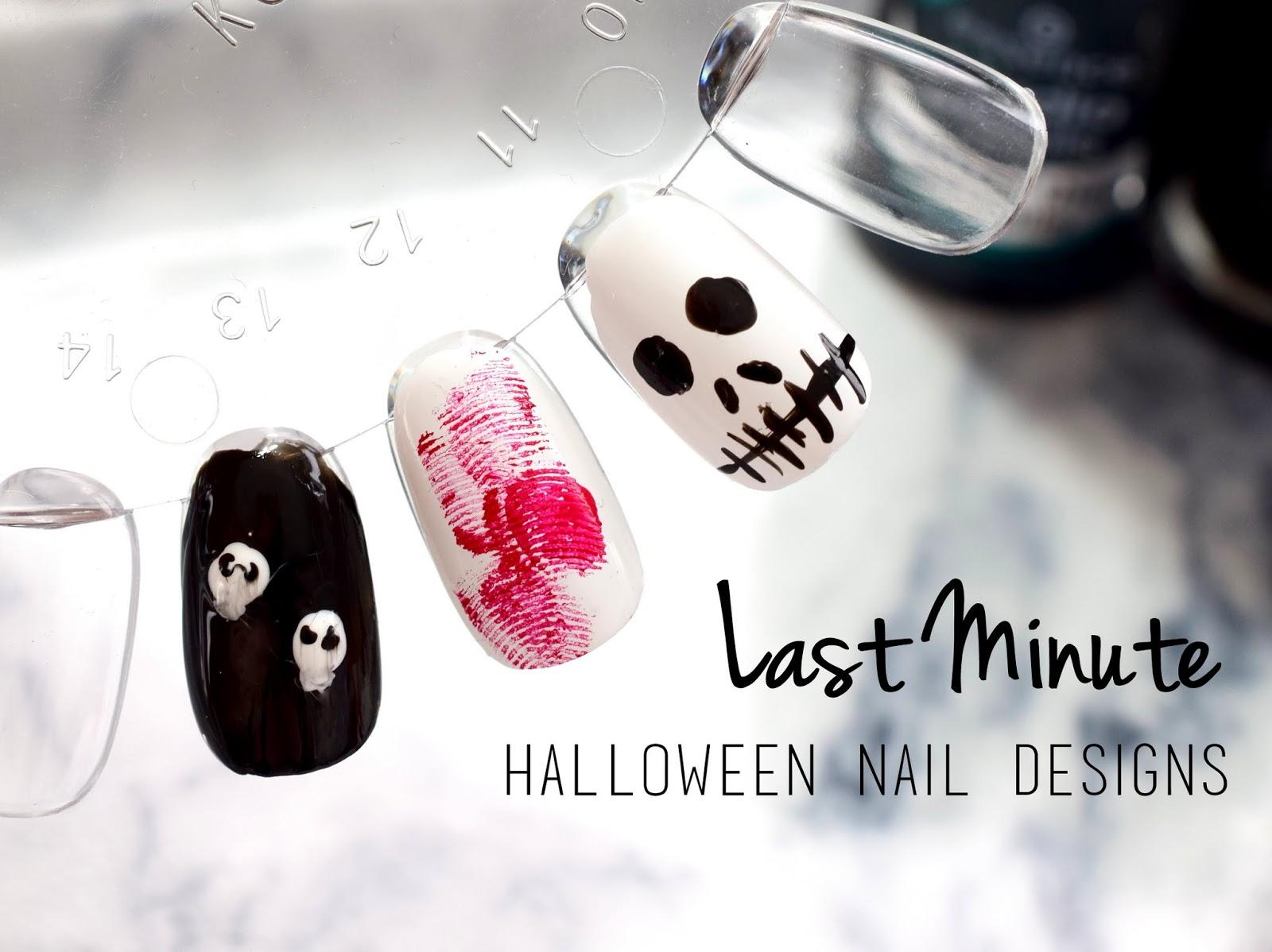 Halloween Tutorial: 3 Last Minute Nail Designs - I need sunshine