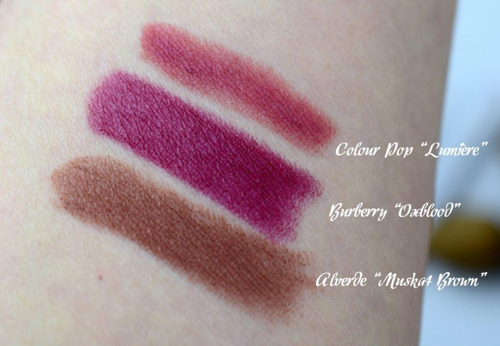 Meine Top 3 Herbst Lippenstifte Swatches