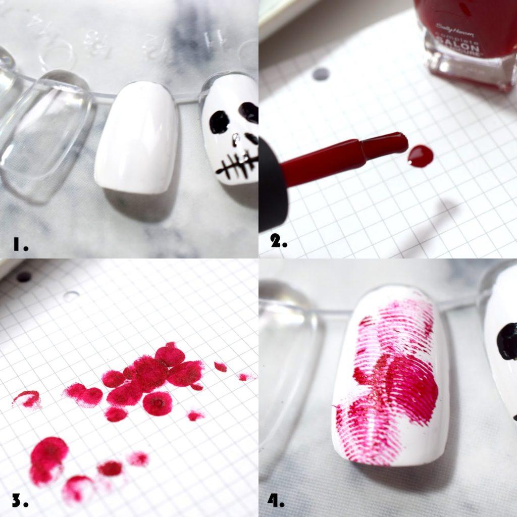 Halloween Nail Tutorial: Blutige Fingerabdrücke
