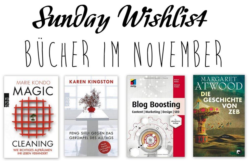 Sunday Wishlist: Bücher im November
