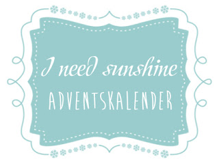 I need sunshine Adventskalender 2015