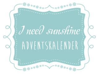 I need sunshine Adventskalender 2015