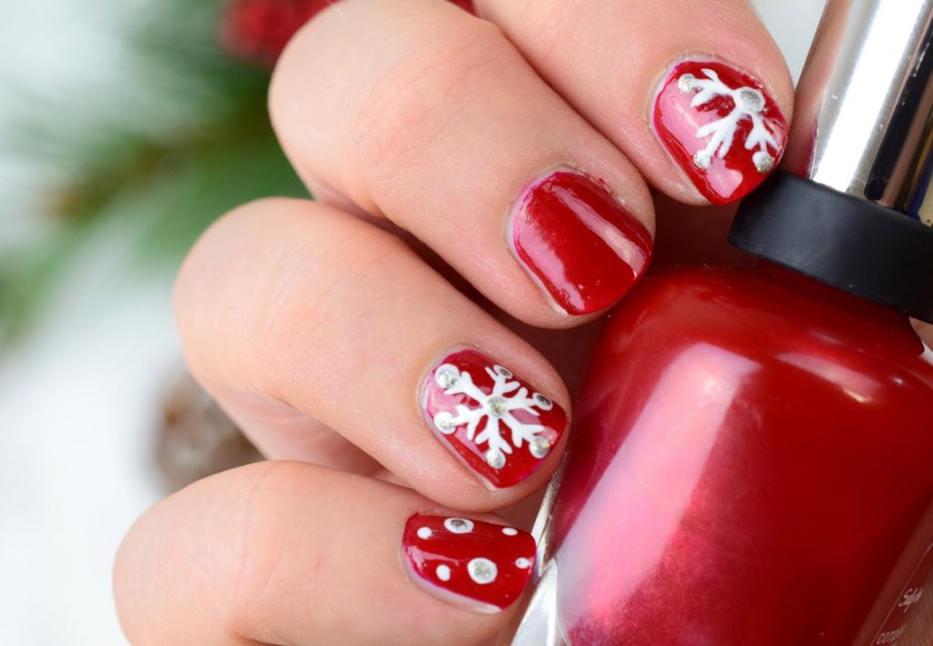 Christmas Evening - Tutorial Schneeflocken Nageldesign