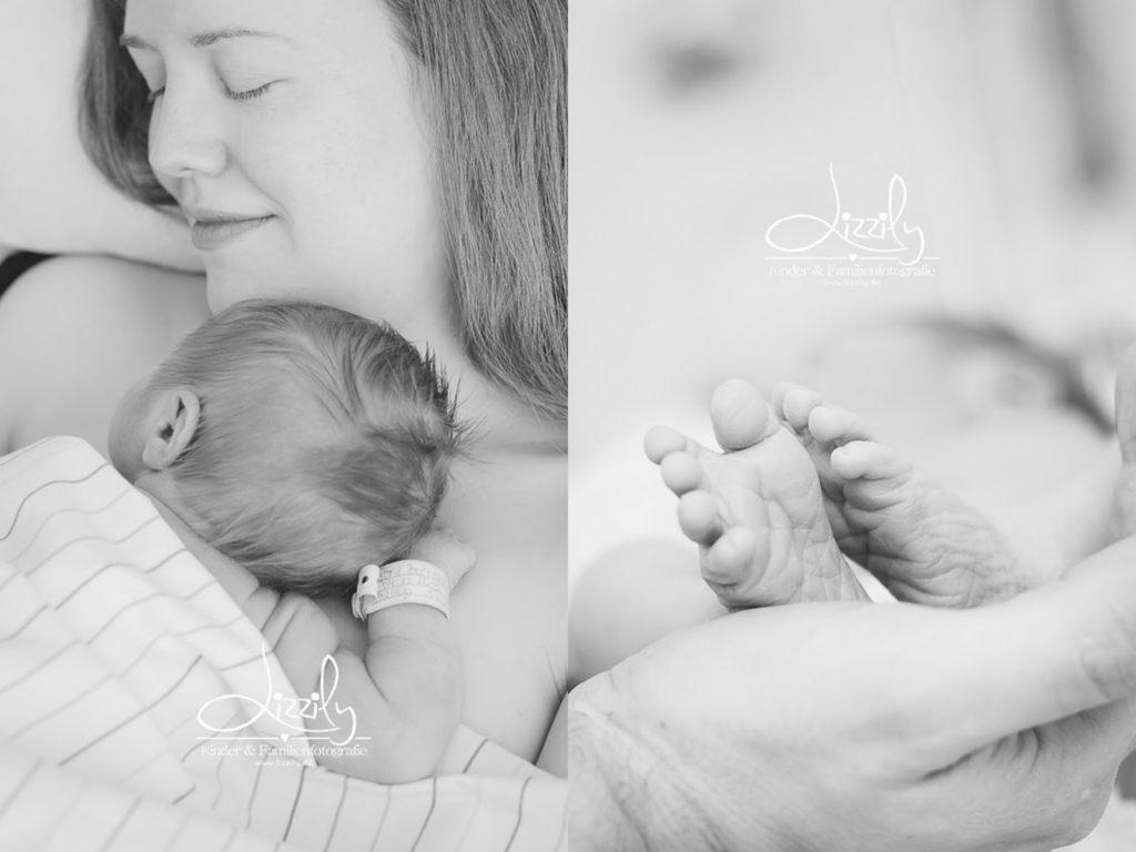 Babyfotos Kinderbilder direkt im Krankenhaus vom Fotograf mit Neugeborenen Bilder