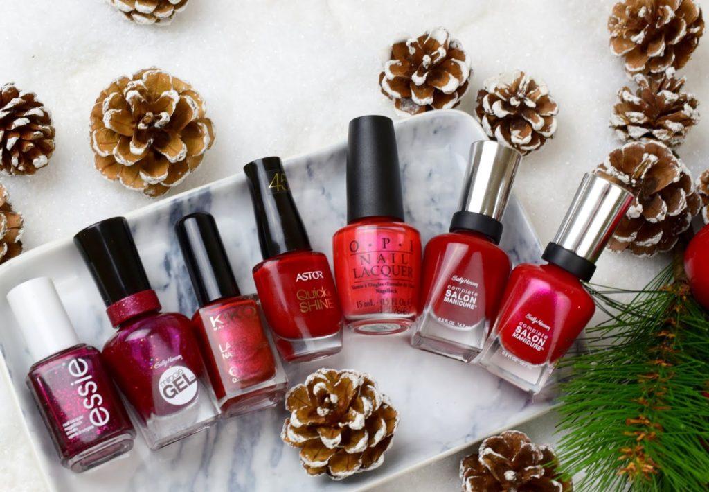 7 Shades of Red Nail Polishes