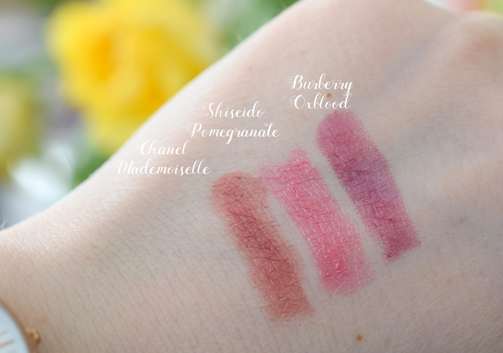 High End Lippenstifte Top 3 Favoriten Swatches Beauty Blogger Blogparade