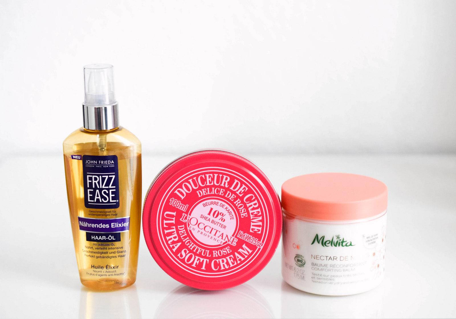 Beauty Blog Favoriten Kosmetik aus dem Monat Februar mit John Frieda, L'Occitane und Melivta
