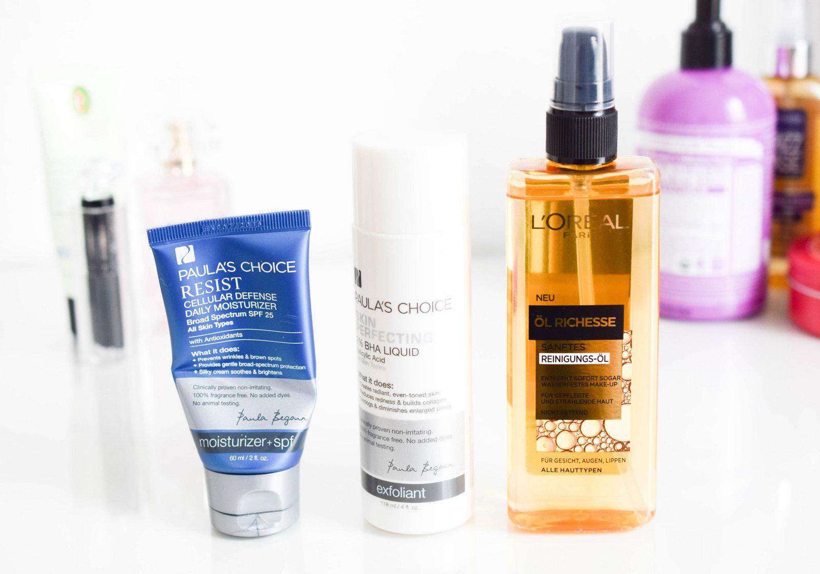 Kosmetik Favoriten und Lieblingsprodukte vom Februar mit L'Oreal Öl Richesse und Paula's Choice BHA 2% Liquid und Resist Cellular Defense Daily Moisturizer SPF 25