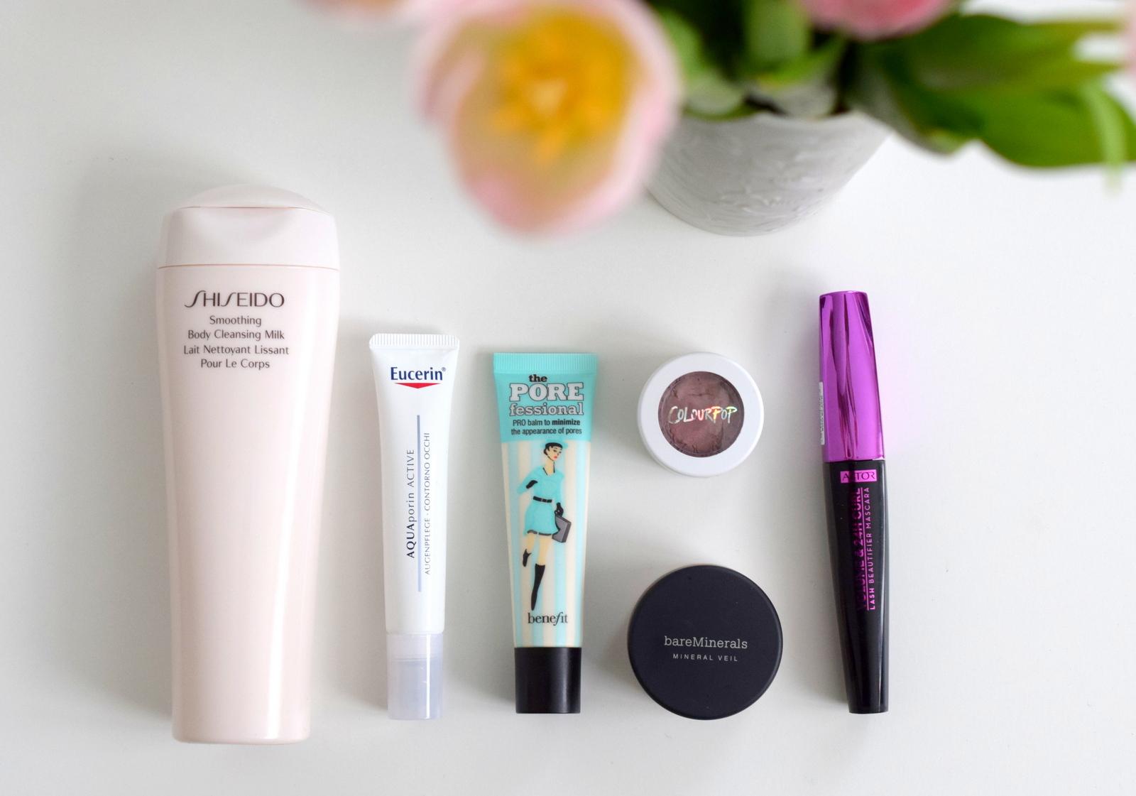Bei meinen Beauty Kosmetik Favoriten im Mai waren unter anderem Benefit, Shiseido, Astor, Colour Pop und Eucerin dabei.