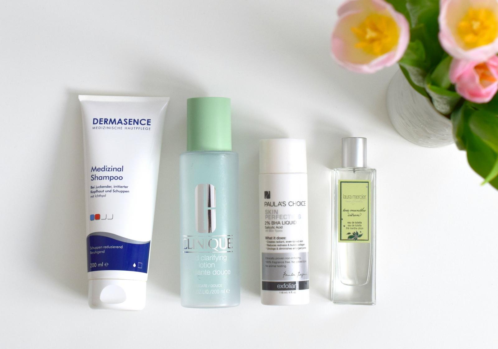 Zu meinen liebsten Kosmetikprodukten im Mai gehört Paula's Choice, Laura Mercier, Clinique und Dermasence