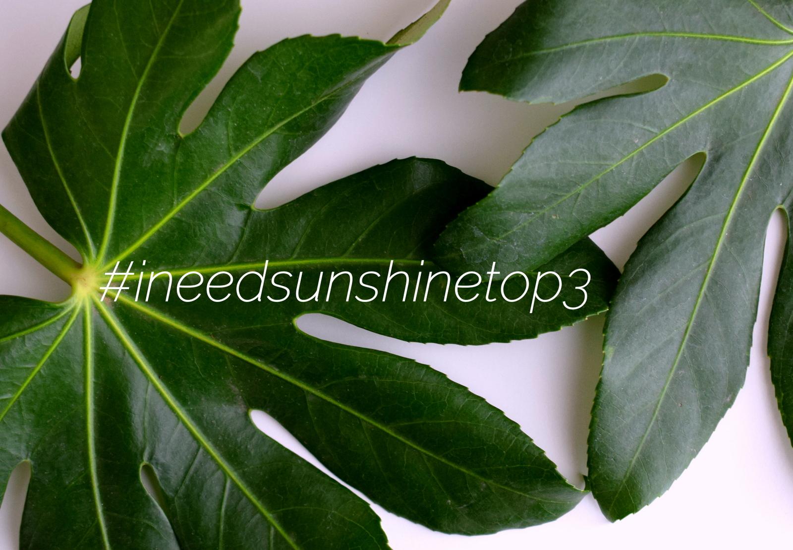 Beautyblog II need sunshine Top 3 Blogparade zieht um zu Instagram mit dem Hashtag #ineedsunshinetop3.