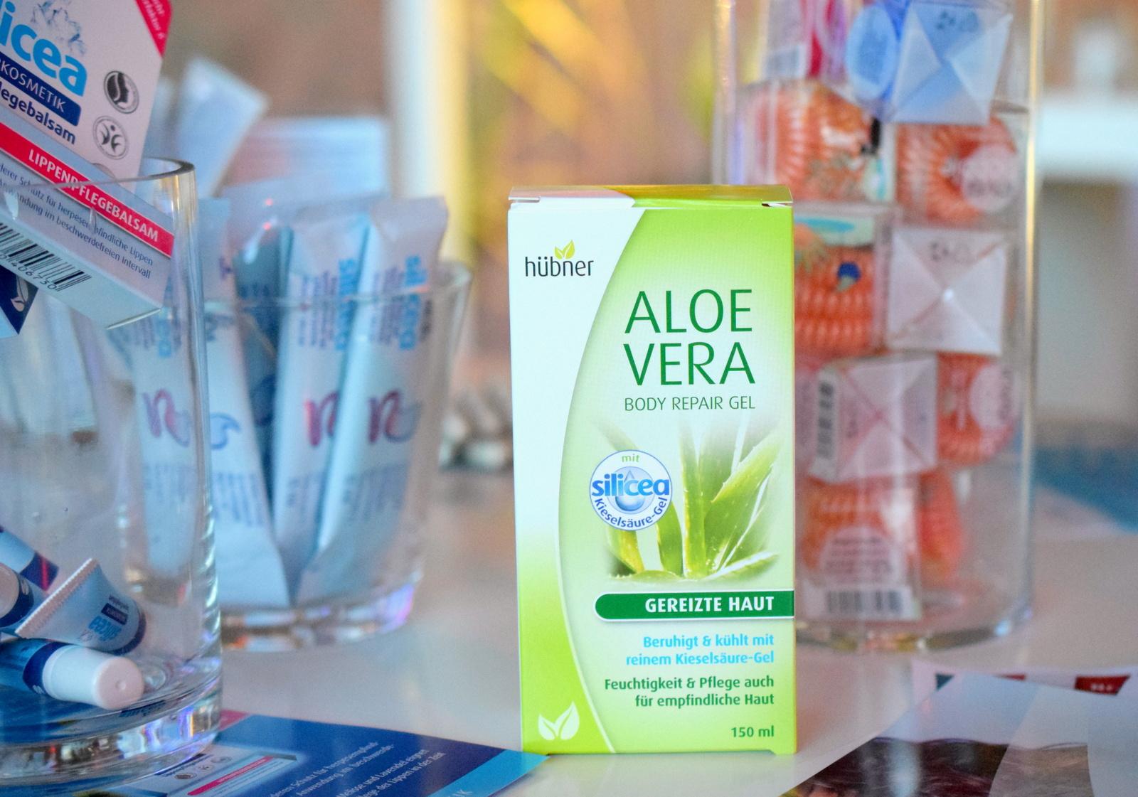 Yupik Infodays 2016 in Baden Baden München und Hamburg hatten auch Hübner als Stand mit den Aloe Vera Körperpflege Produkten.