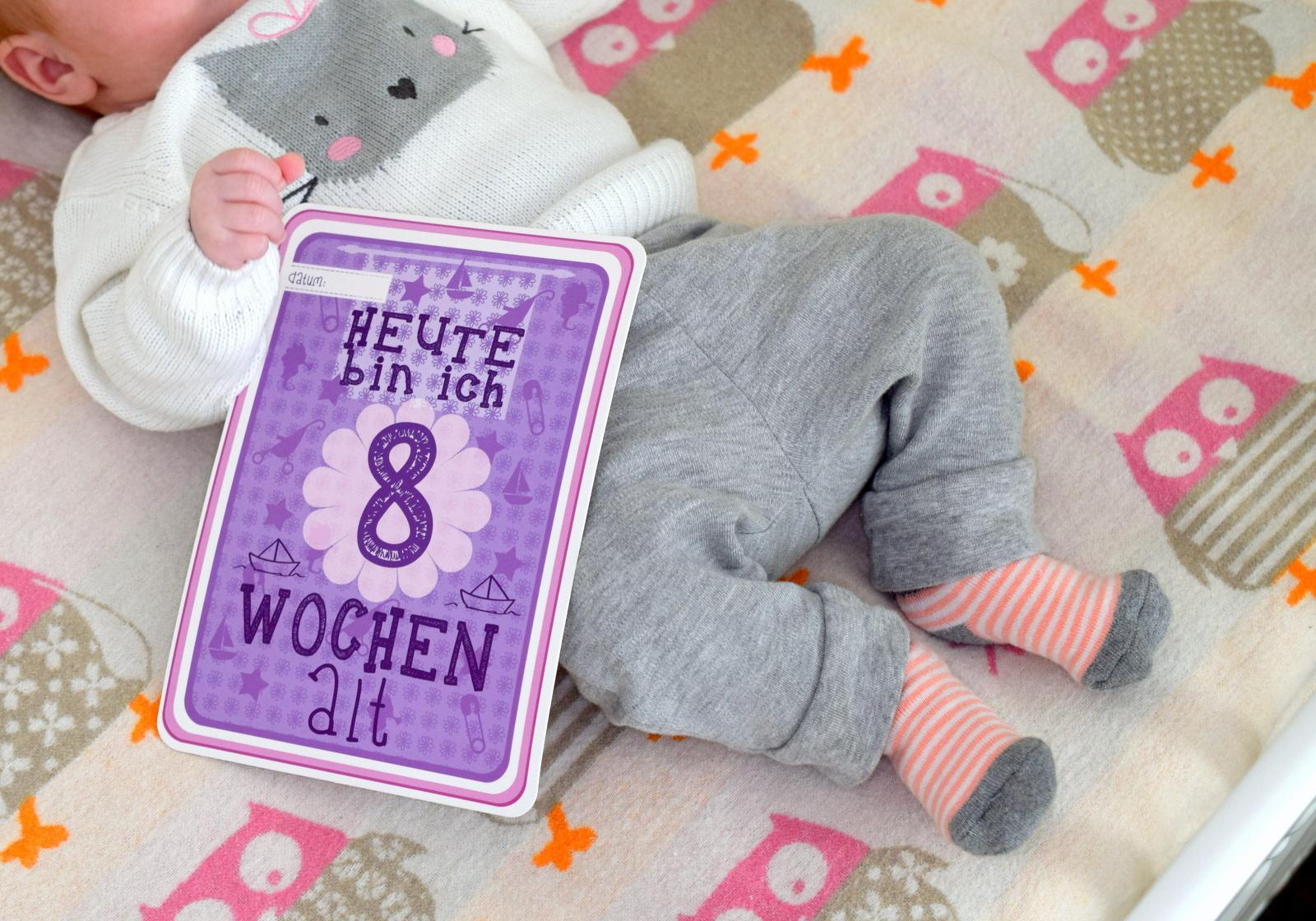 Baby 8 Wochen alt. Entwicklung und Erfahrung Rückblick.