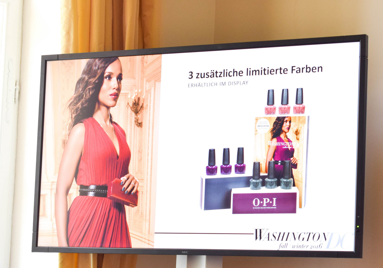 Neues Kampagnengesicht ist Kerry Washington für OPI Washington DC Herbst Nagellack Kollektion beim Coty Color Day 2016 in München