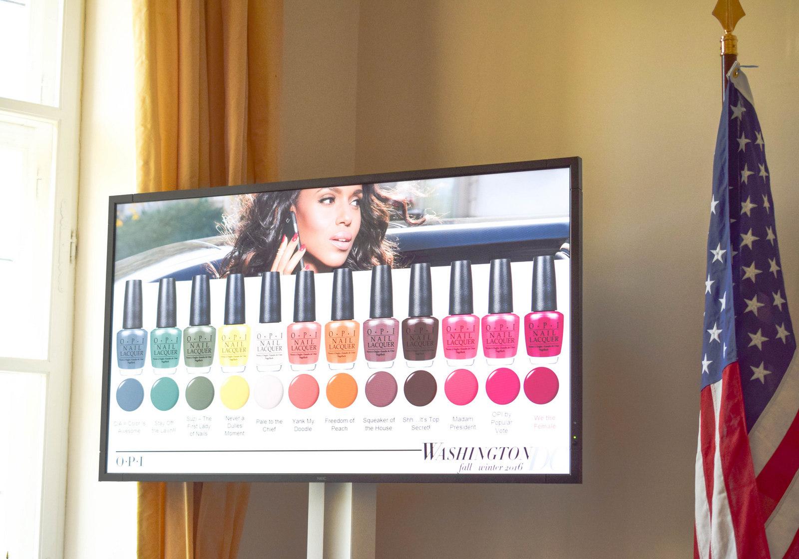 Alle neuen Farben der OPI Washington DC Kollektion beim Coty Color Day 2016 in München