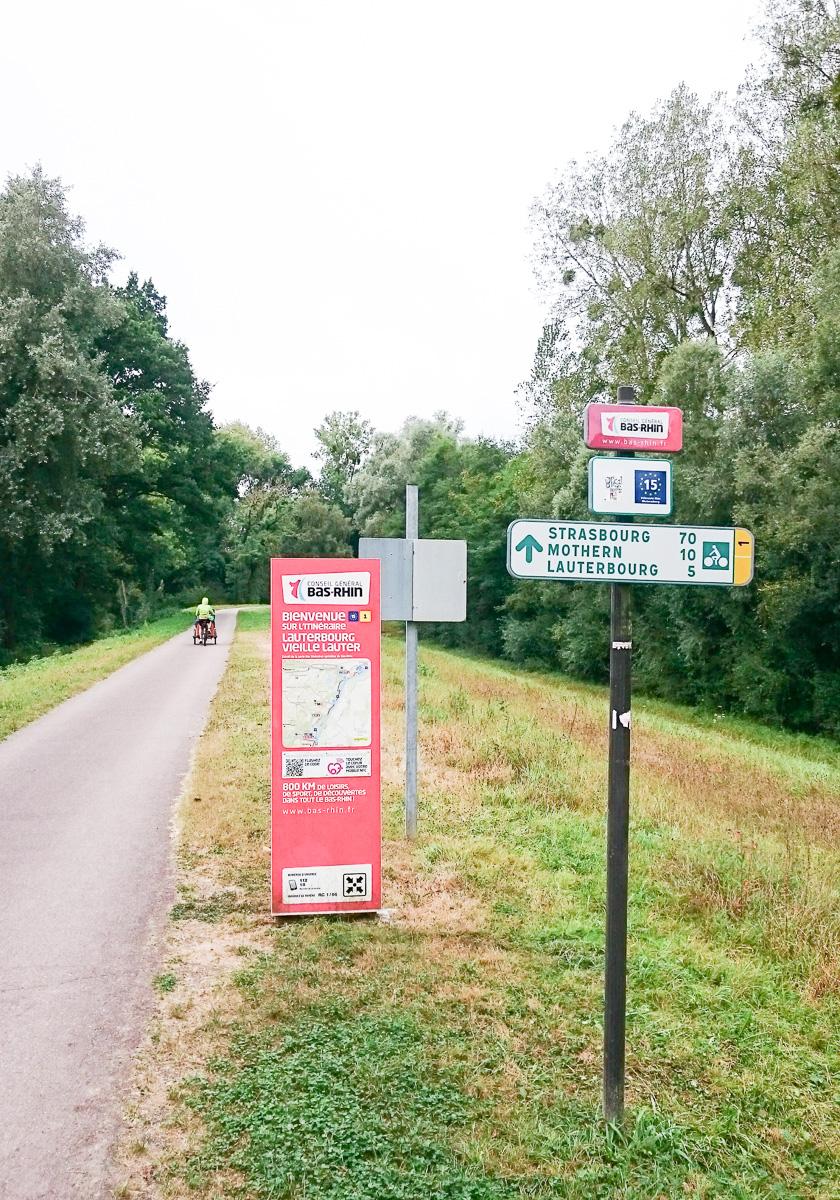 Radtour von Karlsruhe nach Straßburg Rheinradweg mit Baby und Kind für die ganze Familie im Lastenfahrrad